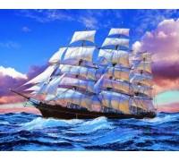 Алмазна вишивка Корабель в океані 50 х 40 см (арт. FS660)