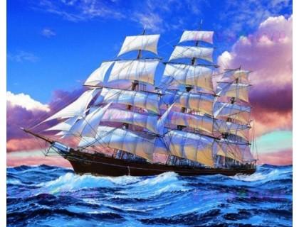 Купить Алмазна вишивка Корабель в океані 50 х 40 см (арт. FS660)