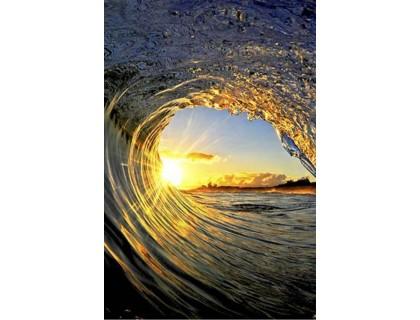 Купить Алмазная вышивка квадратные камни 40 х 60 см Морская волна (арт. FS882)