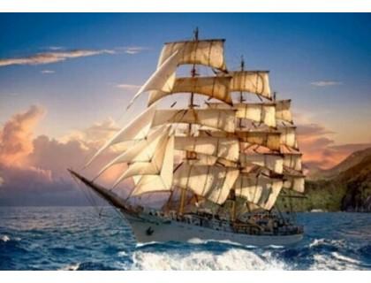Купить Алмазная вышивка без коробки Морской закат MyArt 40 х 30 см (арт. MA754)