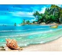 Алмазная вышивка 50 х 40 см на подрамнике Долгожданный отдых на море (арт. TN364)