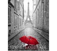 Алмазная вышивка на подрамнике Под зонтом в Париже 40 х 50 см (арт. TN1002)
