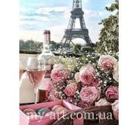 Алмазная вышивка 40 х 50 см на подрамнике Романтика в Париже (арт. TN1004)