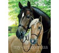 Алмазная вышивка на подрамнике Лошадь и жеребенок 40 х 50 см (арт. TN1007)
