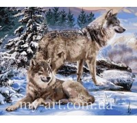 Алмазная вышивка на подрамнике Пара волков 40 х 50 см (арт. TN1008)