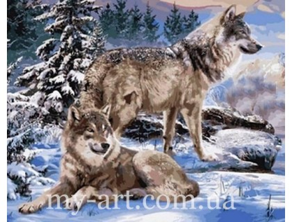 Алмазная мозаика Волки 40х50 см (арт. TN1008)