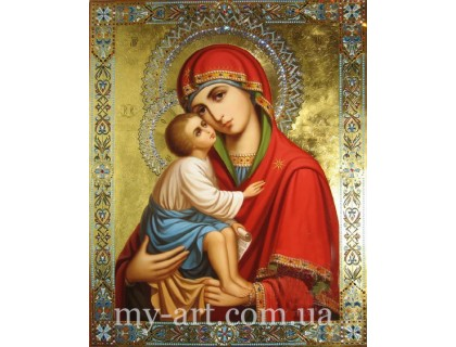 Алмазная мозаика Икона Божья Матерь (арт. TN1014)