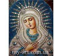 Алмазная вышивка на подрамнике Икона Умиление Богородицы 40 х 50 см (арт. TN1016)