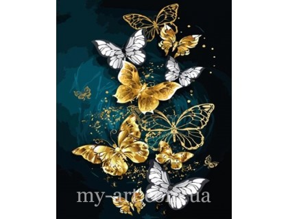 Купить Алмазная вышивка на подрамнике 50 х 40 см Блестящие бабочки (арт. TN1023)