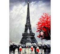 Алмазная вышивка 40 х 50 см на подрамнике Париж в цвету (арт. TN339)