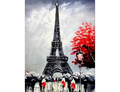 Купить Алмазная вышивка 40 х 50 см на подрамнике Париж в цвету (арт. TN339)