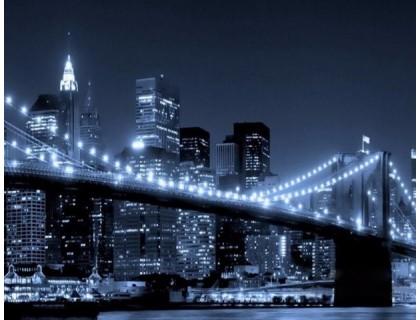 Купить Алмазная вышивка 40 х 50 см на подрамнике Огни ночного мегаполиса (арт. TN450)