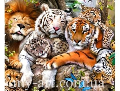 Алмазная мозаика Животные 40 на 50 см (арт. TN466)