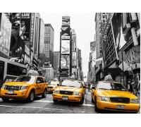 DIY Алмазная вышивка на подрамнике 40 х 50 см Такси по Нью-Йорку, Америка (арт. TN758)