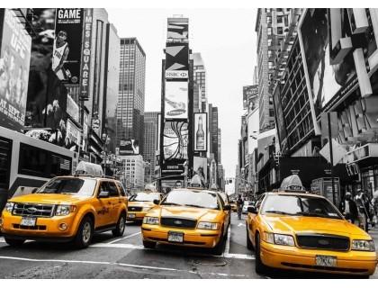 Купить Алмазная вышивка на подрамнике 40 х 50 см Такси по Нью-Йорку, Америка (арт. TN758)