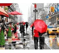 Алмазная вышивка 40 х 50 см на подрамнике Прогулка улицами Нью-Йорка (арт. TN805)