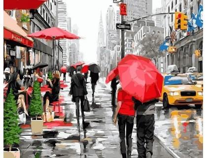 Купить Алмазная вышивка 40 х 50 см на подрамнике Прогулка улицами Нью-Йорка (арт. TN805)