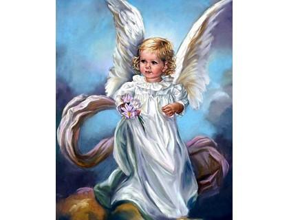 Купить Алмазная вышивка 40 х 50 см на подрамнике Небесный ангел (арт. TN925)
