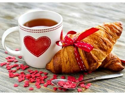 Купить Набор для алмазной вышивки на подрамнике 40 х 50 см Завтрак для любимой (арт. TN936)
