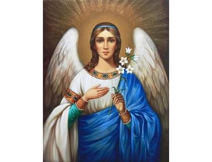 Купить Алмазная вышивка на подрамнике 50 х 40 см Ангел Хранитель (арт. TN940)