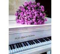 Алмазная вышивка на подрамнике 40 х 50 см Цветы на рояле (арт. TN945)
