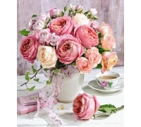 Алмазная вышивка 40 х 50 см на подрамнике Сладкий аромат роз (арт. TN950)