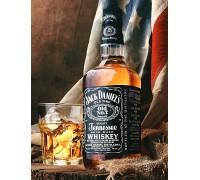Алмазная вышивка на подрамнике 40 х 50 см Виски Джек Дэниэлс (арт. TN956)
