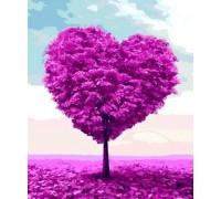 Алмазная вышивка 40 х 30 см на подрамнике Дерево любви (арт. TN961)