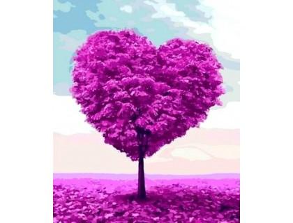 Купить Алмазная вышивка 40 х 30 см на подрамнике Дерево любви (арт. TN961)
