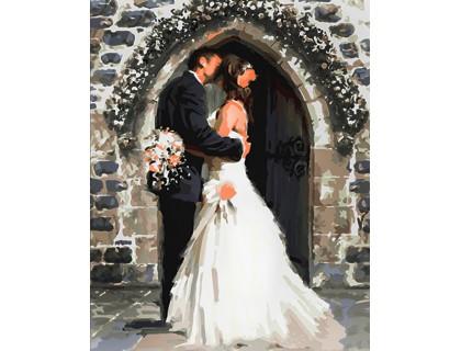 Купить Алмазная вышивка на подрамнике 40 х 50 см Свадьба (арт. TN965) квадратные камни