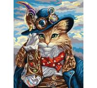 Алмазная вышивка на подрамнике 40 х 50 см Кот в шляпе (арт. TN974)