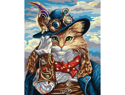 Купить Алмазная вышивка на подрамнике 40 х 50 см Кот в шляпе (арт. TN974)