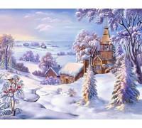 Алмазная мозаика Зимняя красота 30 х 40 см (арт. FS456)