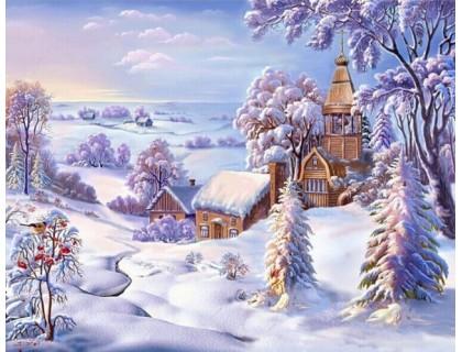 Купить Алмазная мозаика Зимняя красота 30 х 40 см (арт. FR456)