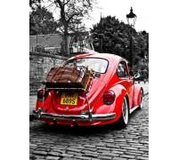 Набор алмазной вышивки Красный автомобиль 30 х 40 см (арт. FR689)