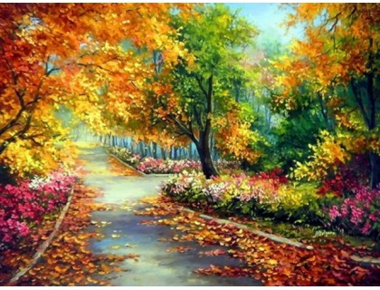 Купить Набор алмазной вышивки Осенние краски 30 х 40 см (арт. FS038)