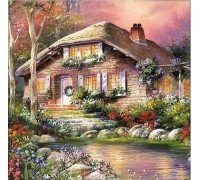 Алмазная вышивка Загородный дом мечты 25 х 25 см (арт. FS073)
