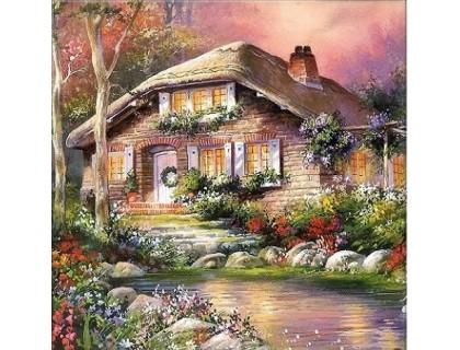 Купить Алмазная вышивка Загородный дом мечты 25 х 25 см (арт. FS073)
