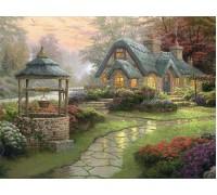 Алмазная вышивка Загородный дом с беседкой 30*40 см (арт. FS225)
