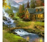 Набор алмазной вышивки Дом у реки 30 х 30 см (арт. FS228)
