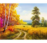 Набор алмазной вышивки Осенняя дорога 30 х 40 см (арт. FS230)