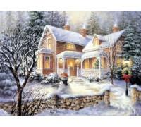 Алмазная вышивка Родной дом 30 х 40 см (арт. FS262)