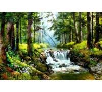 Комплект алмазной вышивки Природный водопад 45 х 30 см (арт. FS277)