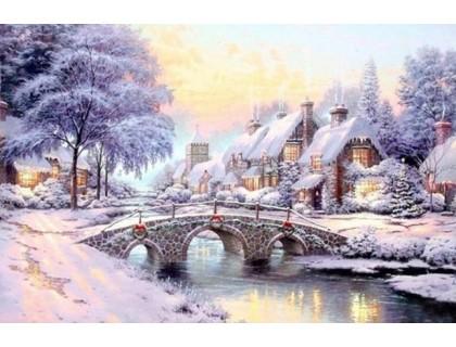 Купить Алмазная вышивка Первый снег 30 х 45 см (арт. FS297)
