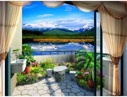 Купить Алмазная мозаика Прекрасный вид с террасы 40*30 см (арт. FS348)