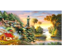 Алмазная мозаика Солнечный маяк 45*30 см (арт. FS349)