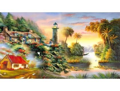 Купить Алмазная мозаика Солнечный маяк 45*30 см (арт. FS349)