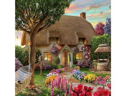 Купить Алмазная вышивка Дом твоей мечты 40 х 30 см (арт. FS437) рисование камнями