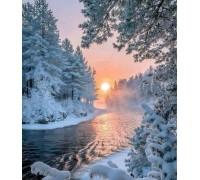 Вышивка стразами Зимняя сказка 30 х 40 см (арт. FS636)