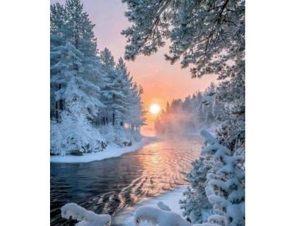 Купить Вышивка стразами Зимняя сказка 30 х 40 см (арт. FS636)
